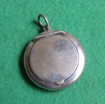 Antique Fully Hallmarked Sterling Silver Albert Chain Snuff / Pill Box
