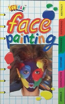 """FUNFAX """"Face Painting"""" book. Costume techniques superhero animals abstract"""