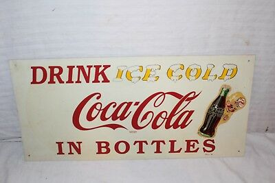 "Rare Vintage 1948 Coca Cola Sprite Boy Soda Pop Gas Station 24"" Metal Sign"
