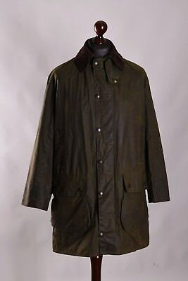 Men's Barbour Border Jacket Size C38 / 97cm Genuine Casual Waxed #
