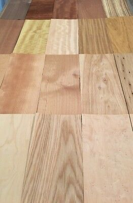 "Wood Veneer Variety Pack: 20 Sheets (5""x11"") 7 Sq Ft"