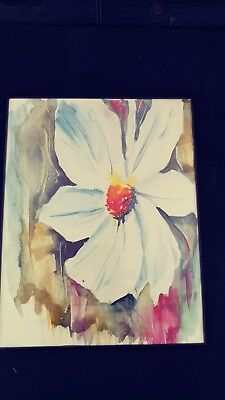 Watercolor flower,abstract, original 11x14