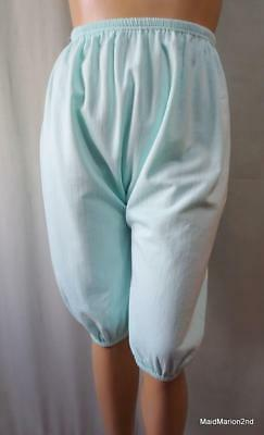 VINTAGE SOFT AQUA BRUSHED COTTON DK's  DIRECTOIRE KNICKERS BLOOMERS - XL