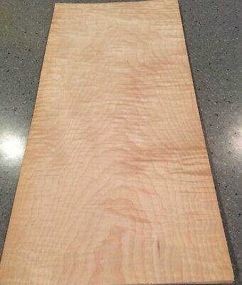 "Curly Maple Wood Veneer: 7 Sheets (21"" X 10"") 10 Sq Ft"