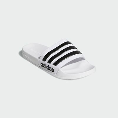 05ce8cc24d2 Adidas Adilette CF Shower White   Black   AQ1702   Men s Slides Sandal  Cloudfoam