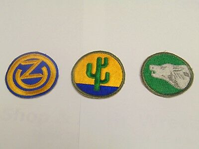 US Military Patch Lot WW2 WW11 WWii 102nd 103rd 104th division  No Glow