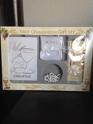 First Communion 4 Piece Gift Set In White Or Black
