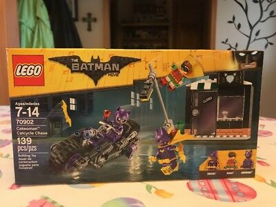 New Mint LEGO Batman Movie Catwoman Catcycle Chase 70902 Sealed Box