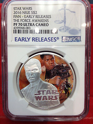 2016 Star Wars FINN PF70 THE FORCE AWAKENS Ultra Cameo Early Releases
