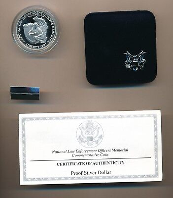 1997 National Law Enforcement Officers Commemorative Silver Dollar Proof Coin