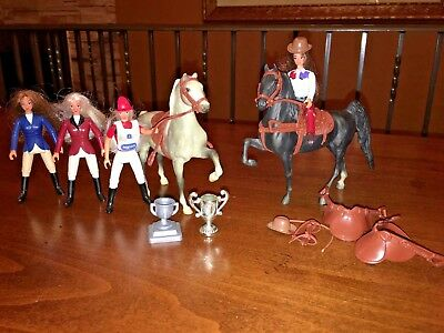 Lot Breyer Horses Little Bits Paddock Pals 9030,9005 Show Riders English Western