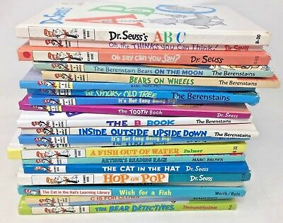 MIXED LOT 10 Dr. Seuss Cat in Hat Learn to Read HC books SHIPS FREE