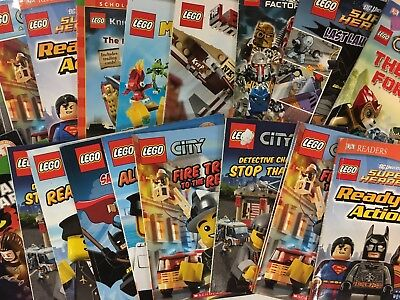 6 MIXED LOT random LEGO Step Reader I Can Read titles books SHIPS FREE