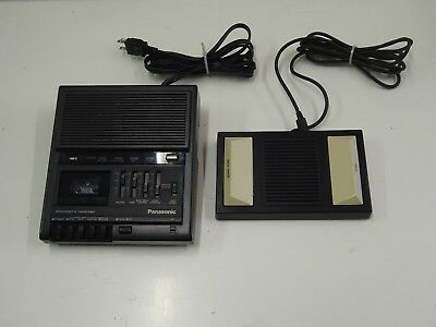 Panasonic RR-930 Microcassette Dictation Transcriber w/ Foot Pedal