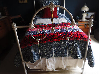 Antique Victorian Iron And Brass Twin Bed - Local Pickup Only Chicago Suburbs