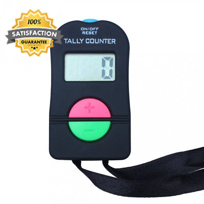 Digital Hand Tally Counter Electronic Manual Clicker Add/Subtract Model For...