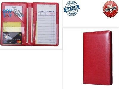 Waiter Book Wallet Server Pads Waitress Restaurant Organizer Holder Money Red