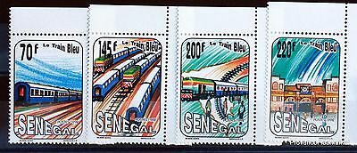 THE TRAIN BLUE stamps of the SENEGAL Series fully LUXE Yt 993/6 88M463