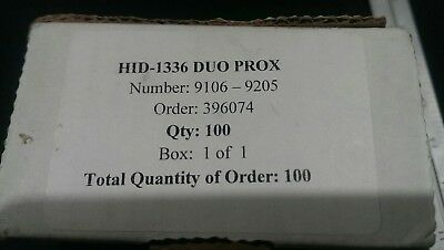 HID 1336 DuoProx Proximity Cards with Hi-Co Magnetic Stripe 100 Pack NEW IN PKG
