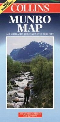 Munro Map by Gregor, Juliet (ed) Sheet map, folded Book The Cheap Fast Free Post