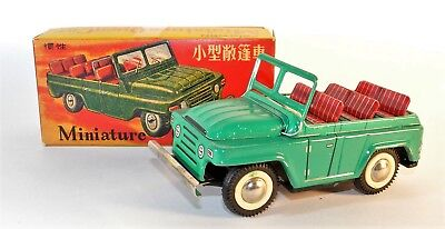 "Blechauto Jeep BJ 212 ""Miniature Open Car"",Red China,MF 978,tin toy,car,1980,OVP"