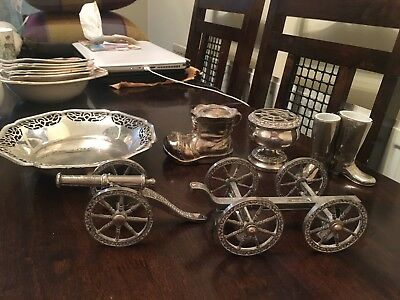 Mixed job of silver plated/EPNS items - joblot of 5