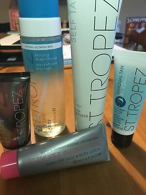 st tropez bronzing water mousse & other items bundle
