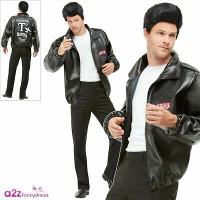 Mens Grease T-Bird Jacket Danny T Bird Adult 50s 50u0027s Fancy Dress Costume Outfit  sc 1 st  PicClick UK & MENS GREASE T-BIRD Jacket Danny T Bird Adult 50s 50u0027s Fancy Dress ...
