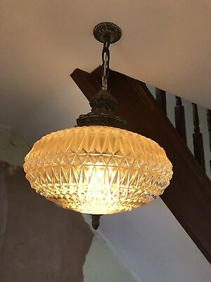 1970s vintage retro glass light fitting L@@k
