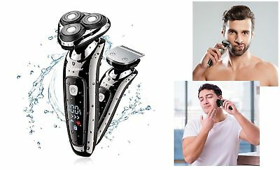 Mens Electric Shaver Razor Wet/Dry 2 in 1 USB Recharge Waterproof Rotary Shaver
