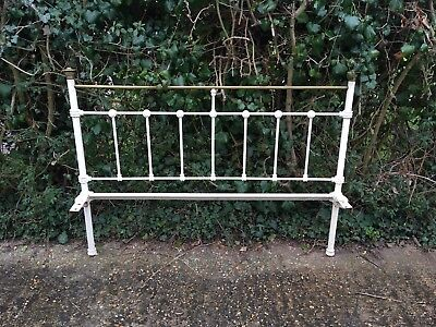 Antique Iron/brass Victorian White Bed Frame (Double)
