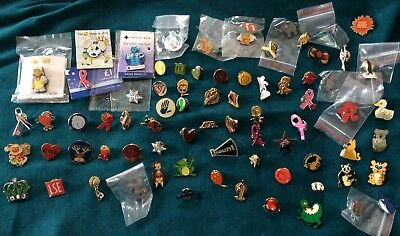 Mixed Collection job lot of 75 assorted charity tie tac pin badges