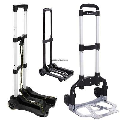 170lbs Cart Folding Dolly Collapsible Trolley Push Hand Truck Moving Warehouse@