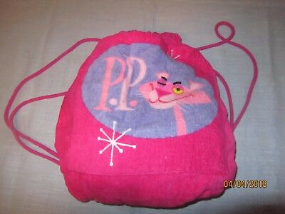 Pink Panther 40th Anniversary Back Pack with Attached Beach Towel - Brand New