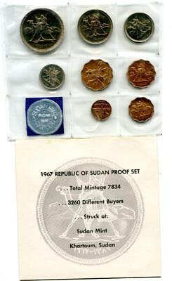 1967 Republic Of Sudan Proof Set Original Packaging & Coa Proof