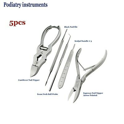 Chiropody Podiatry kit Ingrown Toe Nail Nipper Cantilever Printed Scalpel Handle