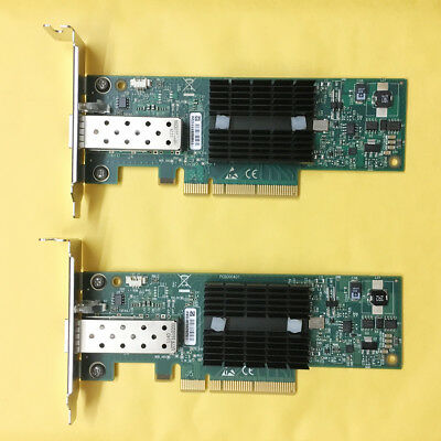 LOT OF 2 MNPA19-XTR Mellanox ConnectX-2 10Gbe SFP+ RT8N1, Low baffle bracket