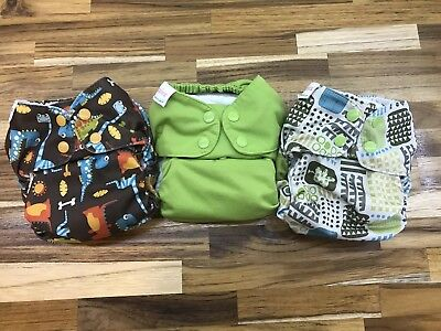 Lot Of 3 Blueberry Simplex Aio Cloth Diapers