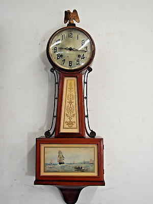 Antique 1932 New Haven Whitney Banjo wall clock
