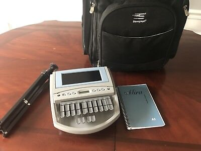 Mira Stenograph Court Reporting Machine/ Comes With Bag And Stand/ Paperless