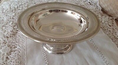Vtg International Sterling Silver Candy Dish Nut Bowl Compote