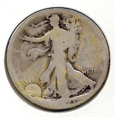 Genuine 1921 Walking Liberty Half Dollar Key Date Coin For The Series