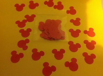 1 x pack of Red Mickey Mouse Confetti For Disney Weddings Buy 2 packs get 1 free