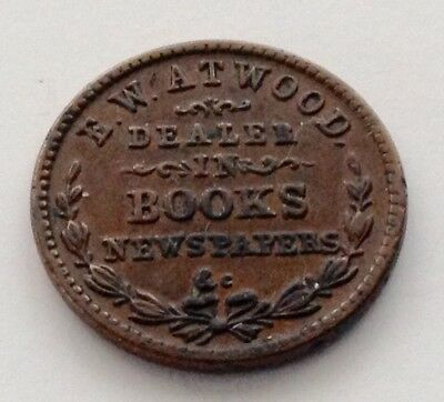 Cwt Extra Fine 1863 E.w. Atwood. Dealer In Books Newspapers, & C