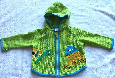 Hanna Andersson girl / boy jacket with squid/turtle print, size 70 LNC
