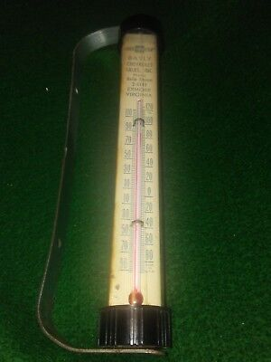 Vintage Chevy-Chevrolet-Thermometer-Bayly Auto Dealership- Exmore Va.-Glass Tube