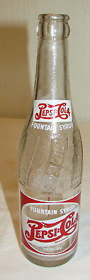 Vintage Pepsi Bottle Double Dot Fountain Syrup 12oz Bottle - Flat River, MO