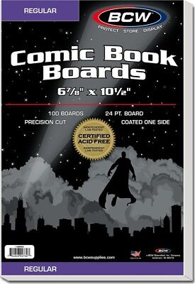 (25) BBREG BCW Regular Size Comic Backing Boards Retail Store Archive Display