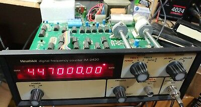 HEATHKIT IM-2420 Digital Frequency Counter Clean calibrated, Working, ACCURATE!