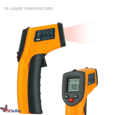 Digital IR Infrared Laser Thermometer Temperature Non-Contact Handheld Gun UK